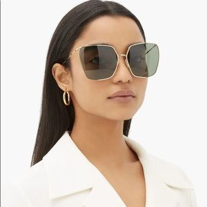 Celine square sunglasses gold